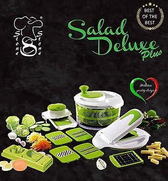 salad delux plus insalatiera taglia verdure visto in tv affettatutto centrifuga insalata robot da cucina