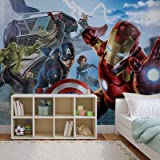 Papier Peint Photo Mural 3363P8 - Collection Marvel Avengers - XXL - 368cm x 254cm - 4 Part(s) - Imprimé sur 115g/m2 papier mural