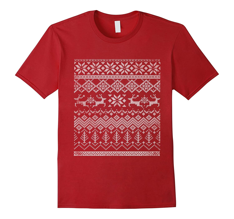 Ugly Christmas Sweater Fair Isle Shirt - Goatstee