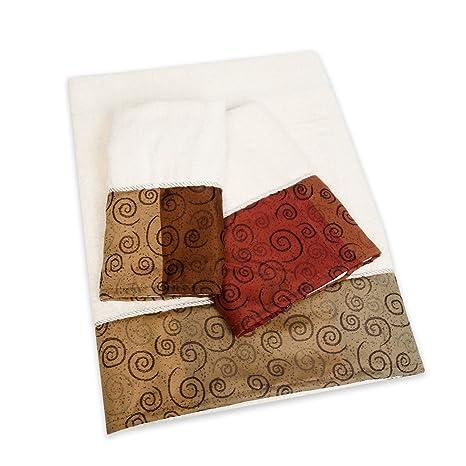 Miramar – 3 piezas populares de baño Piscina, toalla de mano, lavar Set