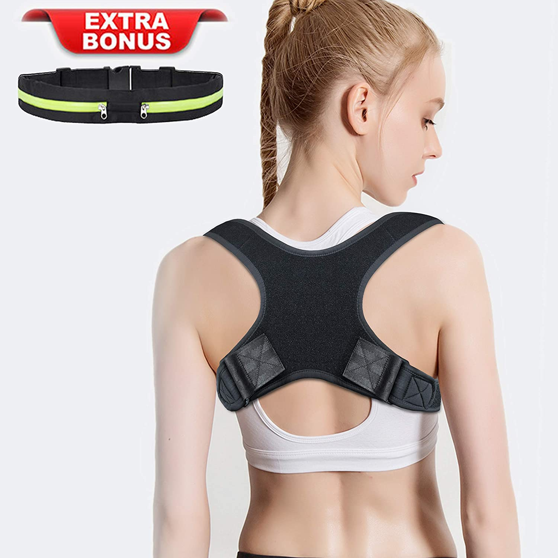 Amdieu Posture Corrector for Women /& Men Under Clothes Adjustable Shoulder Belt for Slouching /& Hunching Upper Back Brace Posture Clavicle Strap Pain Relief B Chest 29-45