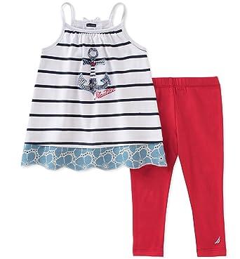 8d5e7584a651b Amazon.com: Nautica Baby Girls' Leggings Set: Clothing