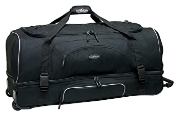 220394a585 Image Unavailable. Image not available for. Color  Travelers Club 36 quot   ADVENTURE Double Packing Compartment Rolling Duffel ...