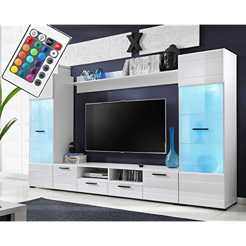 tv wall unit bedroom voguish furniture combo for living room freestanding tall cabinet wall shelf 15 colour tv units room amazoncouk