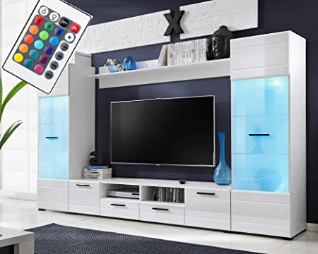 Voguish Furniture Combo For Living Room   Freestanding Tall Cabinet   Wall  Shelf   15 Colour