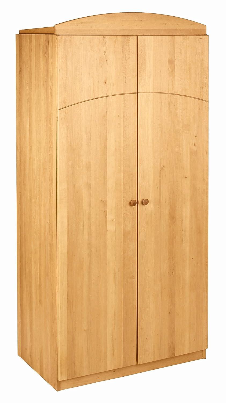 BioKinder 22129 Leonie Schrank Kinder-Kleiderschrank aus Massivholz Erle 200 x 94 x 59 cm