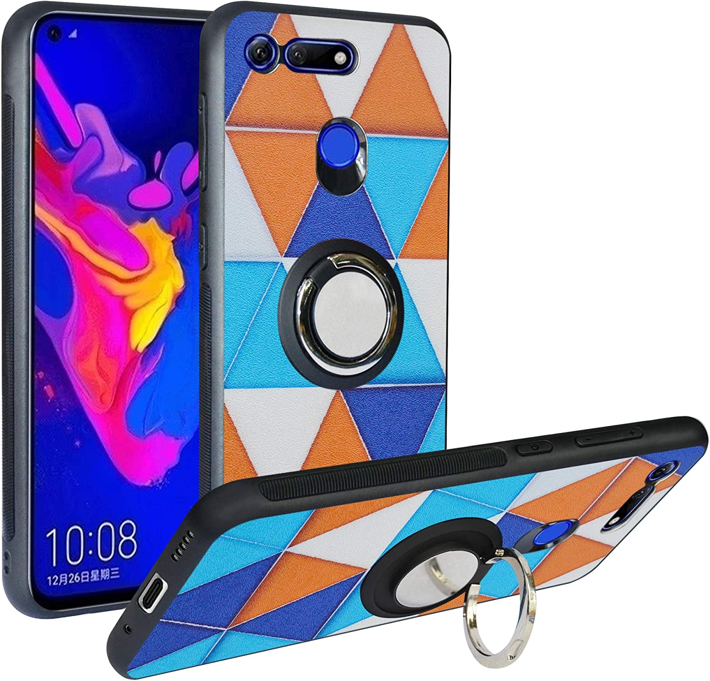 Funda para Huawei Honor View 20, Fashion Design [Antigolpes] con 360 Anillo iman Soporte, Resistente a los arañazos TPU Funda Protectora para Honor V20,Triangle: Amazon.es: Electrónica