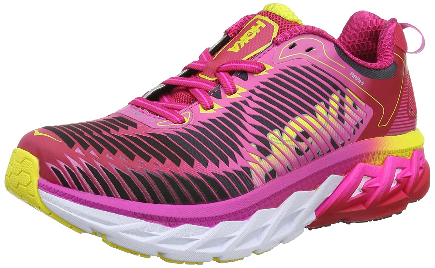 HOKA ONE ONE Mens Arahi Running Shoe B01HJEMNHW 7 B(M) US|Virtual Pink/Neon Fuchsia