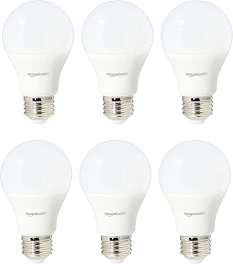 Amazonbasics 60 Watt Equivalent Soft White Non Dimmable A19 Led Light Bulb 6 Pack