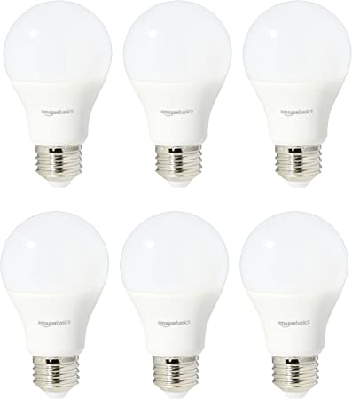 Basics 60 Watt Equivalent A19 LED Light Bulb Renewed Blue 2-Pack Non-Dimmable