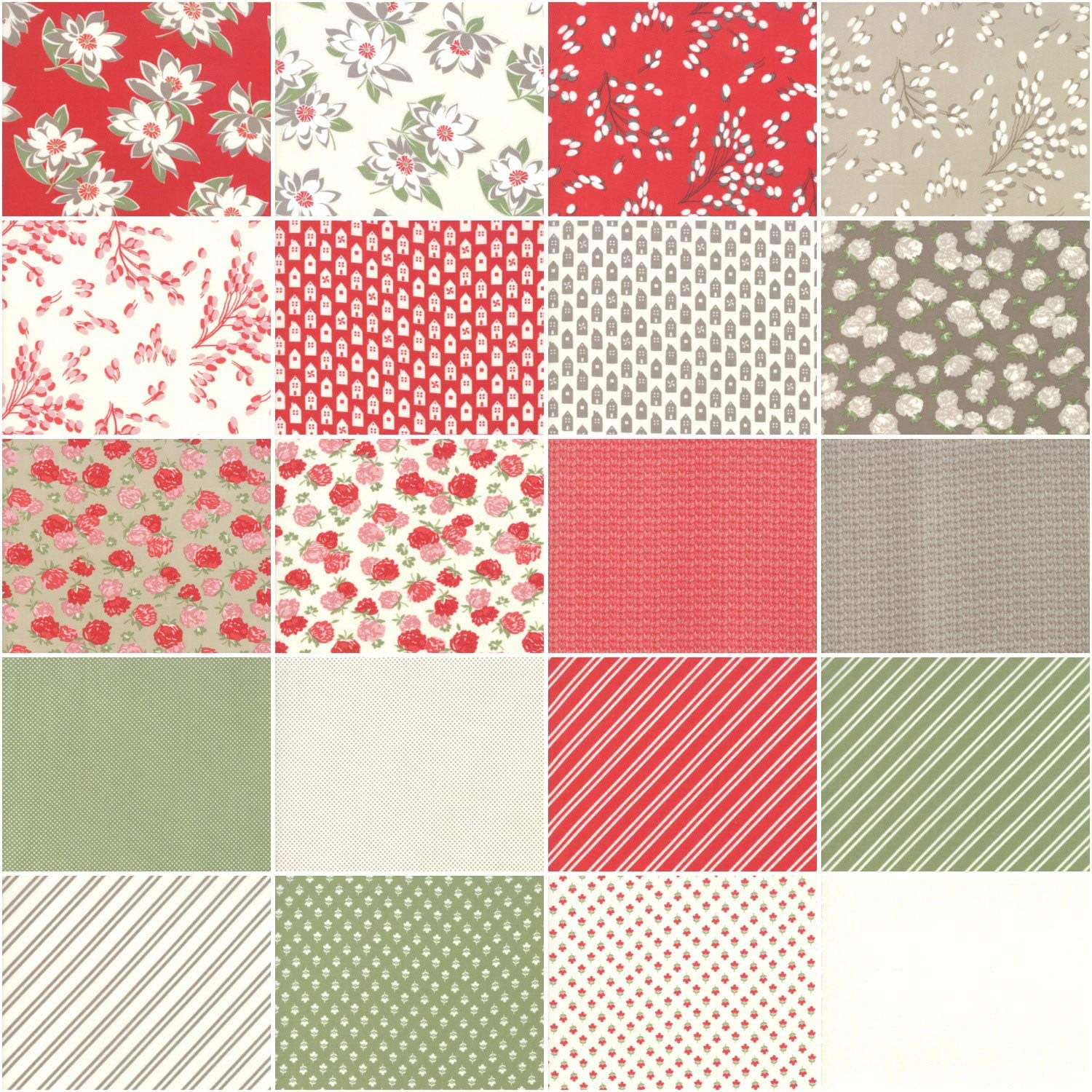 Little Snippets 40 Fat Eighth Bundle by Bonnie /& Camille for Moda Fabrics 55180F8
