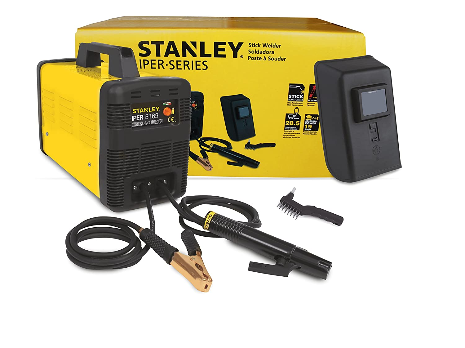 Stanley 41118U IPER E169 120-volt 100-Amp Stick Welder, 15.2 x 7 x 10.6-Inch, Yellow - - Amazon.com