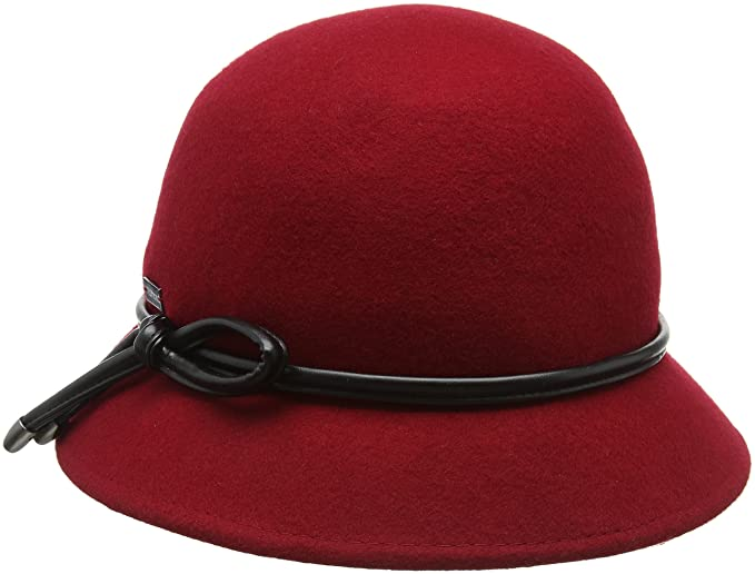 38f331d6 Betmar Christina Trilby Hat, Red, One Size: Amazon.co.uk: Clothing
