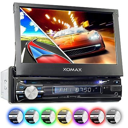 XOMAX XM-DTSBN933 Radio de Coche con GPS I Bluetooth I 7