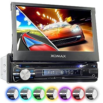 """XOMAX XM-DTSBN933 Radio de Coche con GPS I Bluetooth I 7"""" Pantalla Táctil"""