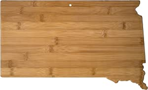 Totally Bamboo South Dakota State Shaped Serving & Cutting Board, Natural Bamboo