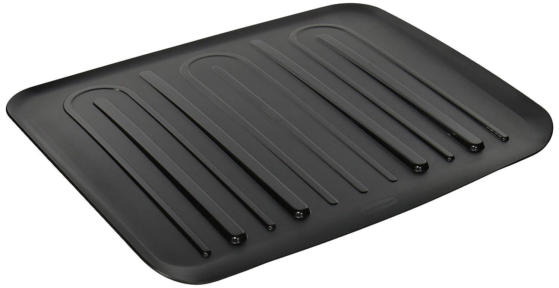 Rubbermaid 1182MABLA Large Black Drain-Away Tray 1182-MA-BLA