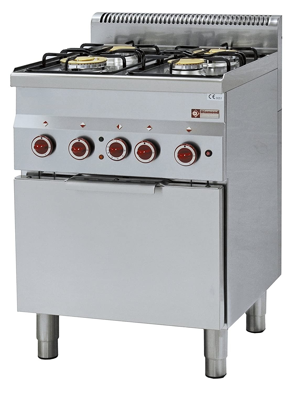 Modular Cocina de gas 4 quemadores y eléctrico convección ...