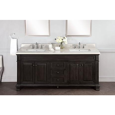 Lanza WF6953 72 Kingsley 72 In. Double Bathroom Vanity