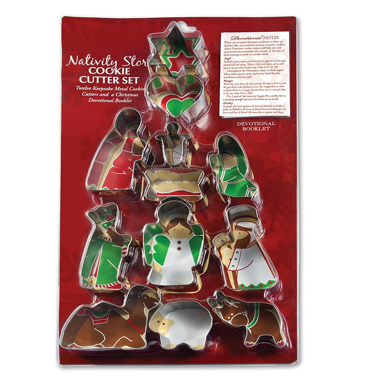 12 Piece Christmas Cookie Cutter Set