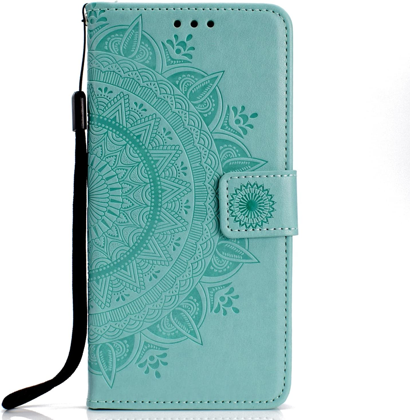 Herbests Compatible with iPhone XS//iPhone X Wallet Case Bling Glitter Crystal Diamond Butterfly Flower Leather Folio Flip Case Slim Book Cover with Credit Card Slot Stand Function,Gold