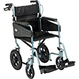 Patterson Medical Days Escape Lite Aluminium Wheelchair,  Silver Blue - Wide