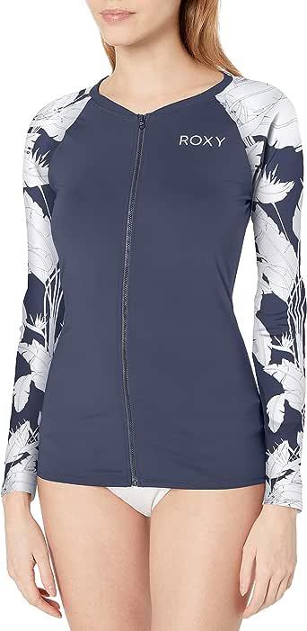 Roxy Women's Long Sleeve Zip-up Fashion Rashguard