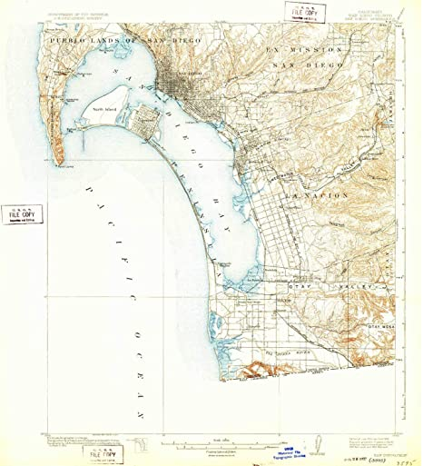 Topographic Map Of San Diego.Amazon Com Yellowmaps San Diego Ca Topo Map 1 62500 Scale 15 X