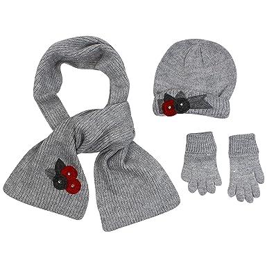 a0d334550c0 Mayoral Hat Scarf   Gloves Set Grey 6-9M  Mayoral  Amazon.co.uk ...