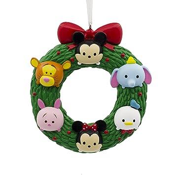 hallmark christmas ornament disney tsum wreath mickey minnie winnie the pooh tigger