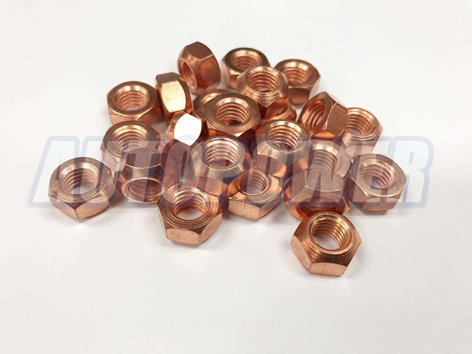 25x M8 Copper Flashed Exhaust Manifold 8mm Nut - High Temperature Nuts AutoPower