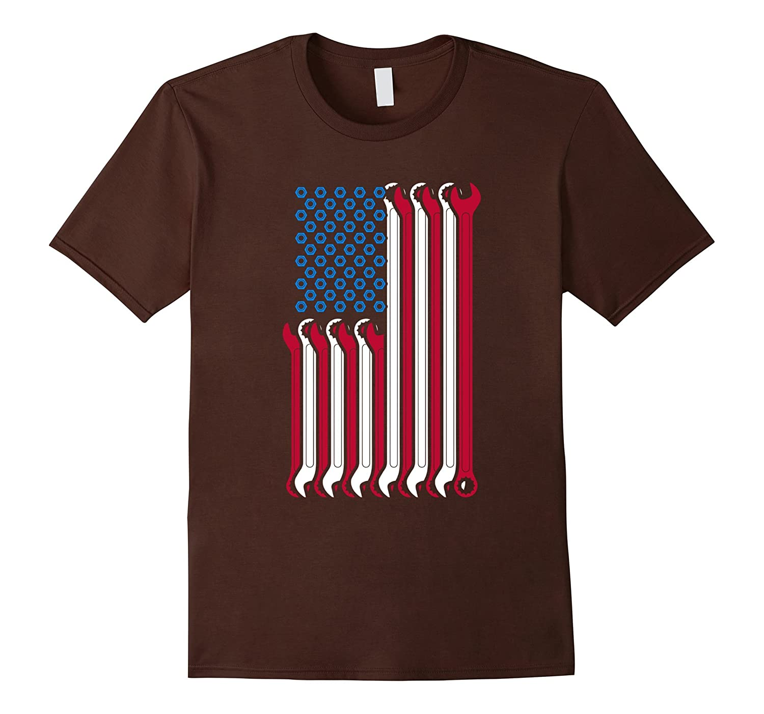 American Flag Mechanic Combination Wrenches T-Shirt-FL