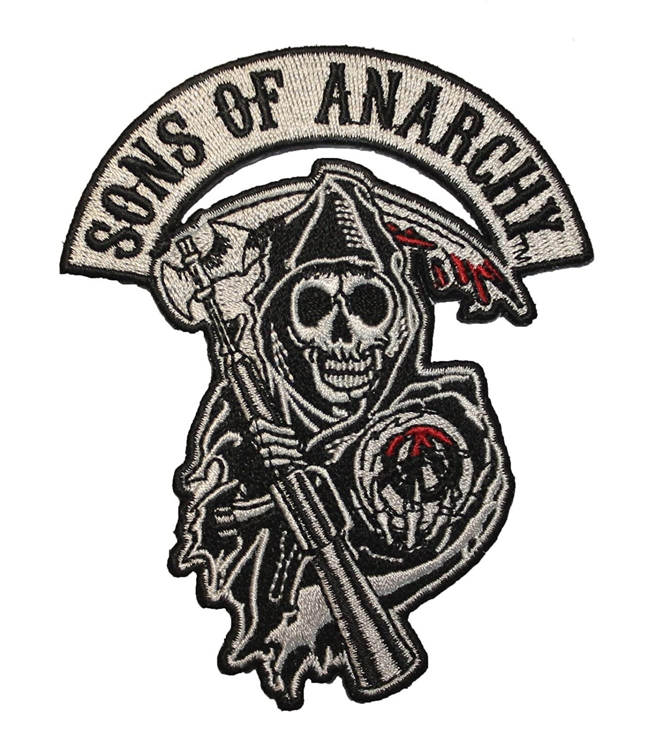 sons of anarchy reaper logo road gear patch amazon co uk car rh amazon co uk Sons of Anarchy Reaper Logo Sons of Anarchy Logo Stencil