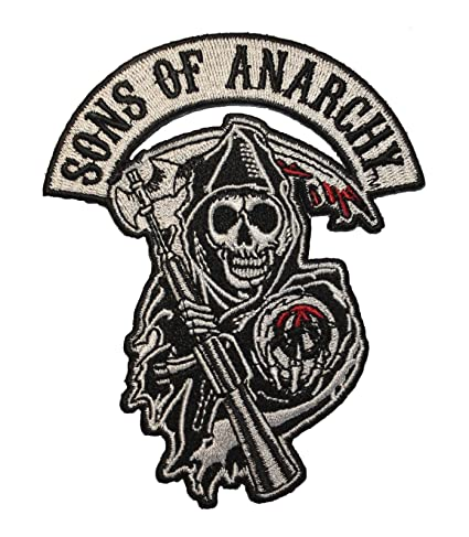 amazon com sons of anarchy reaper logo road gear patch rh amazon com sons of anarchy logo vector sons of anarchy logo font
