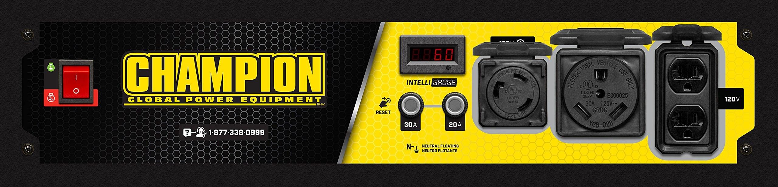 Champion Power Equipment 100555 RV Ready Portable Generator, Yellow and Black by Champion Power Equipment (Image #5)