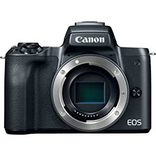 Canon EOS M50 Mirrorless Camera Body w/ 4K Video (Black) Point & Shoot Digital Cameras at amazon