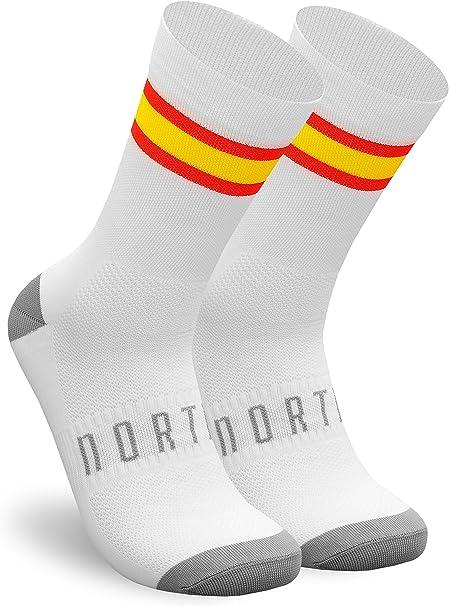NORTEI - Calcetines Bandera España para Ciclismo, MTB y Running de Meryl para Hombre y Mujer – Spain: Amazon.es: Deportes y aire libre