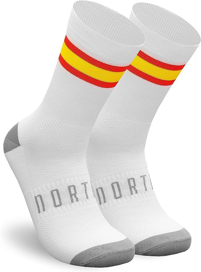 NORTEI - Calcetines Bandera España para Ciclismo, MTB y Running de ...