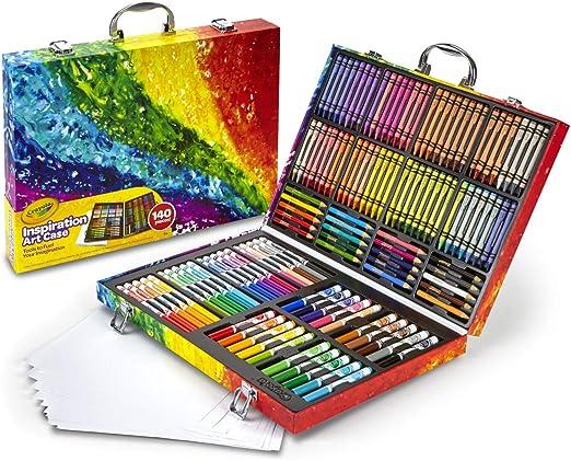 Crayola Inspiration art case - Kit de manualidades para niños (Lápiz de color, Lápiz, Rotulador), 140 piezas , Modelos/colores Surtidos, 1 Unidad: Amazon.es: Juguetes y juegos