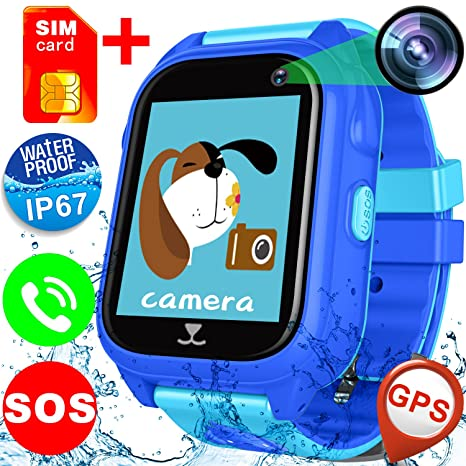 Amazon.com: ZOFUNNY Kids Waterproof Smart Watch Phone 【Free ...