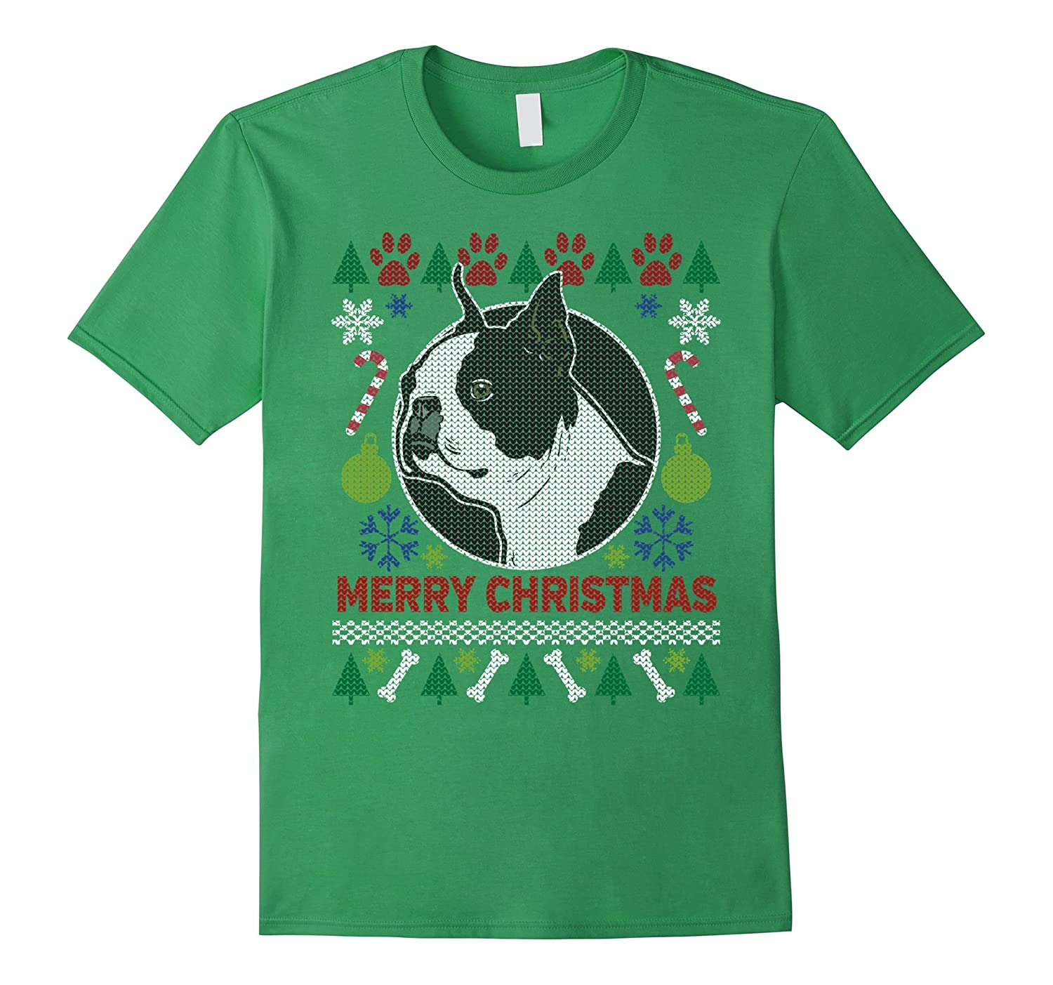 Boston Terrier Dog Breed Owners Ugly Christmas T-shirt
