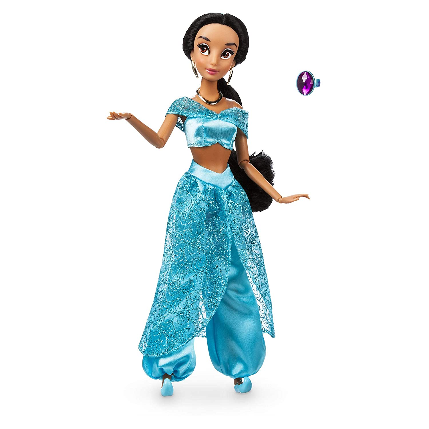 Disney Official Store Aladdin Princess Jasmine Classic Doll With Ring 30cm Tall