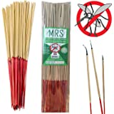 "MRS Mosquito Repellent Sticks Citronella Lemongrass - 15"" Insect Repellent Incense Sticks - 100% Natural - Burn 40 Mins Each - 60 Hours - BEST VALUE (Pack of 90)"