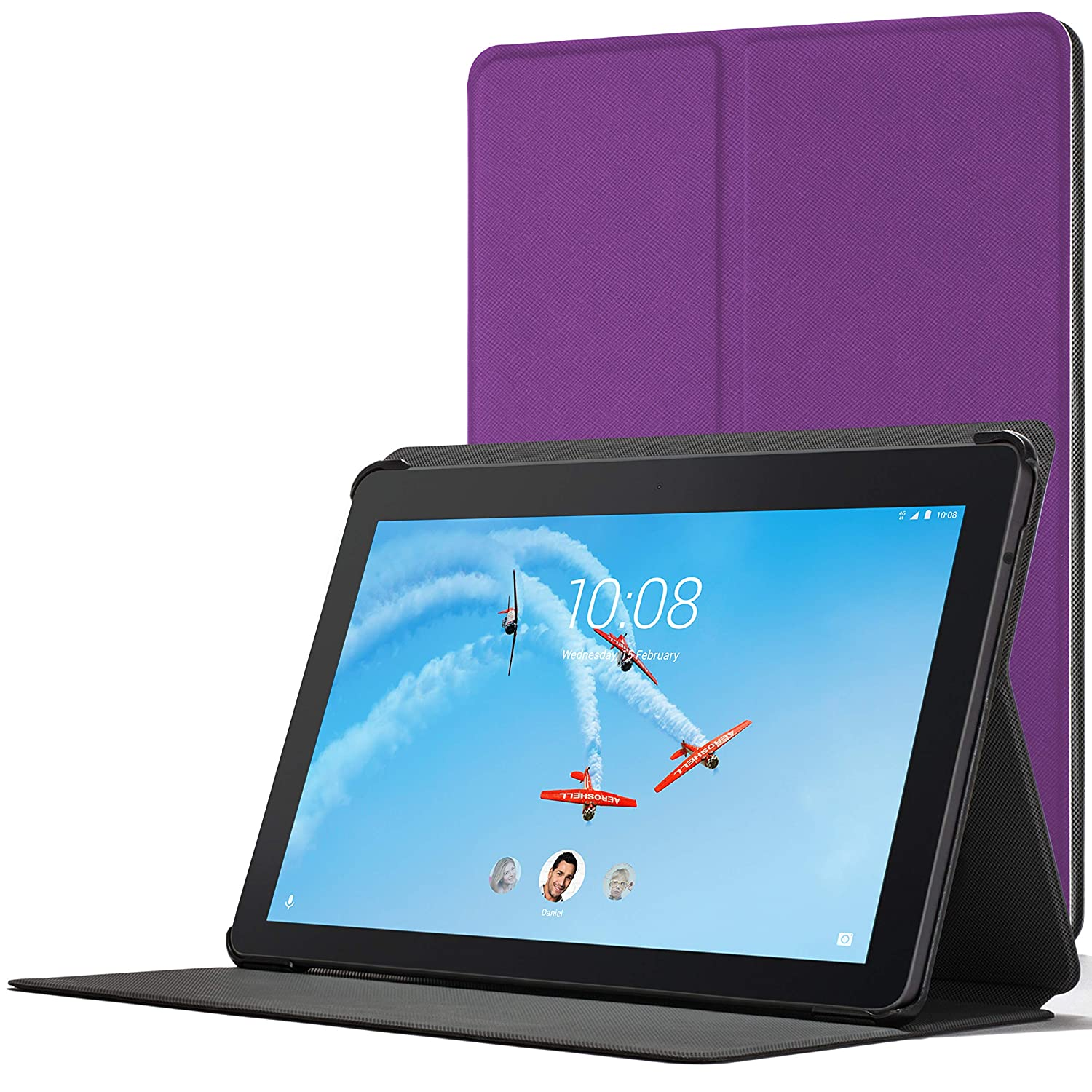 Forefront Cases Cover for Lenovo Tab E10 | Magnetic Protective Case Cover and Stand for Lenovo Tab E10 10.1 Inch | Elegant Slim Lightweight | Purple