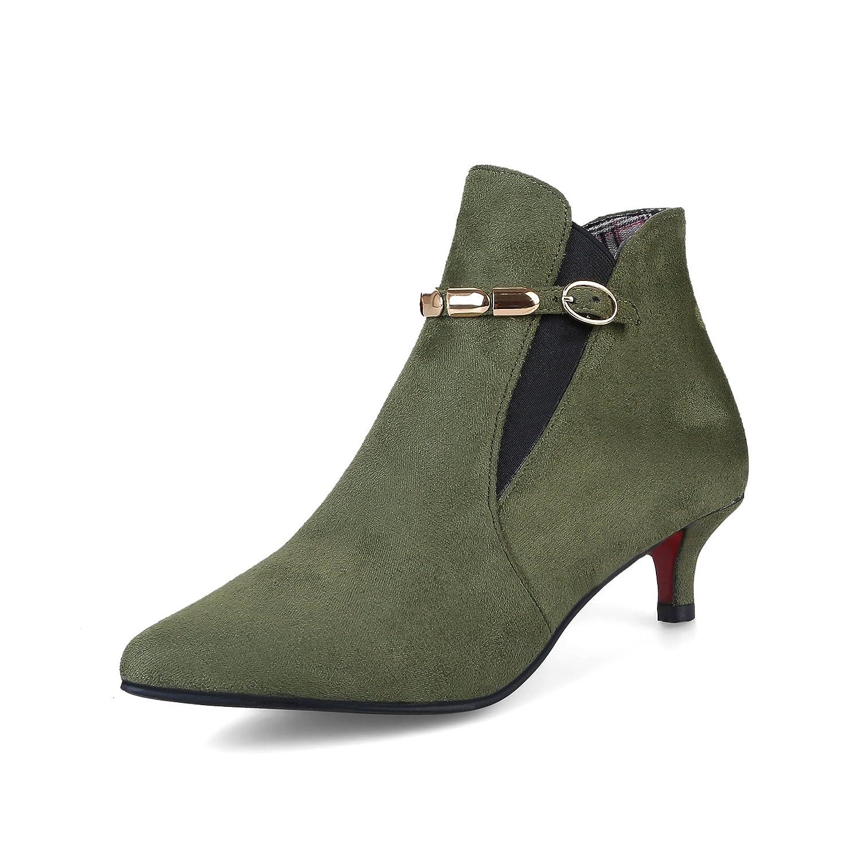 QIN&X Stiletto High Heels Damen Schuhe Stiefeletten Stiefeletten Stiefeletten SchuheMilitary Grün dffbbd