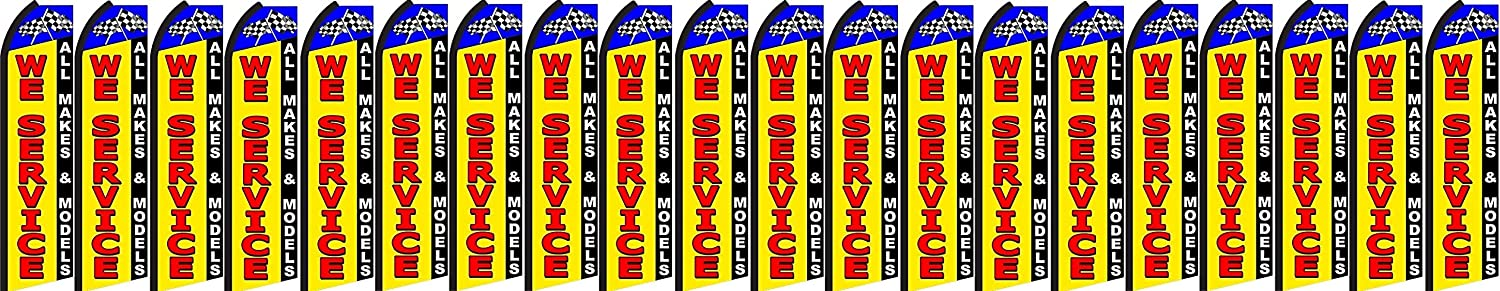 we service King Swooper Feather Flag Sign Pack of 20 hardware not included