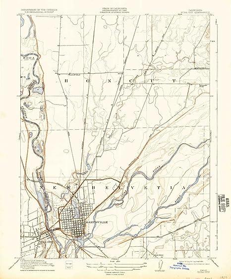 Map Of California Yuba City.Amazon Com Yellowmaps Yuba City Ca Topo Map 1 31680 Scale 7 5 X