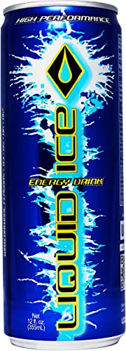 Liquid Ice Blue Energy Drink, 12 Ounce, 24 Count