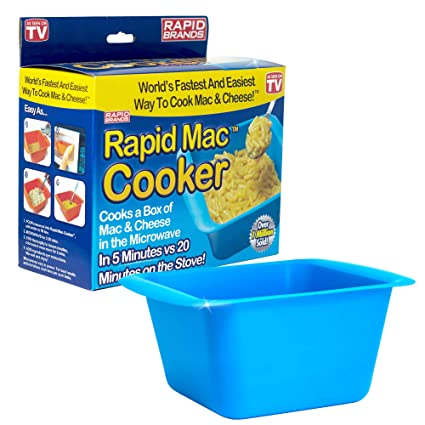 Rapid Mac Cooker | Microwave Macaroni & Cheese in 5 Minutes | Perfect for  Dorm, Small Kitchen or Office | Dishwasher-Safe, Microwaveable, & BPA-Free