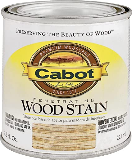 Cabot 144 8132 HP 1/2 Pint Ebony Interior Oil Wood Stain
